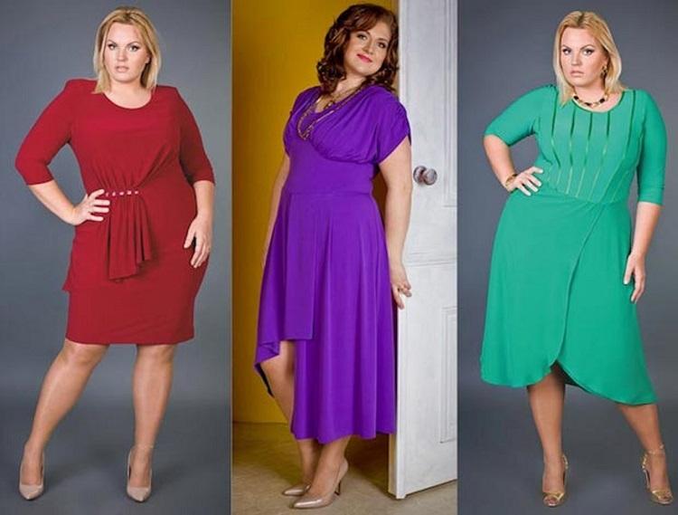 Платья на торжество для полных женщин - как выбрать правильный оттенок
