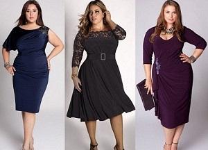 Платья на юбилей для полных женщин - как выбрать правильный фасон