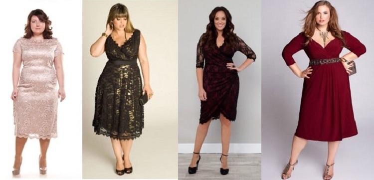 Правила выбора платья на юбилей для полных женщин - полезные советы