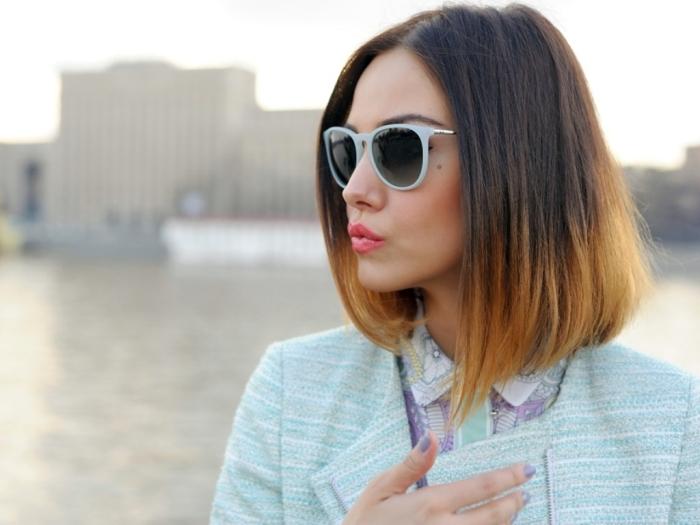 Окраска волос омбре на средние волосы, фото