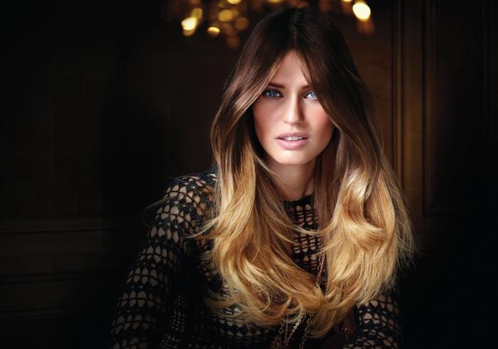Окрашивание омбре на темные волосы средней длины: фото