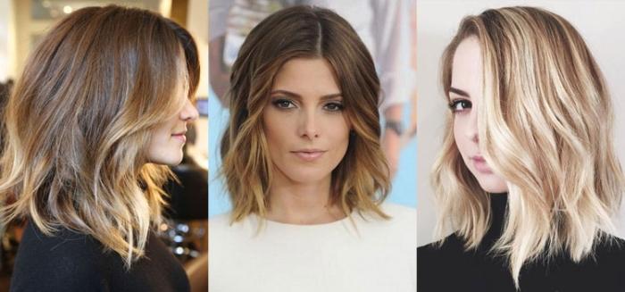 Окрашивание на среднюю длину волос