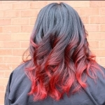 Окрашивание омбре на русые волосы красным цветом: фото