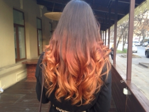 Омбре на темные волосы: фото, цветовые сочетания