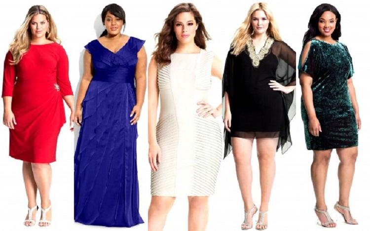 Фасоны платьев для полных женщин - несколько праздничных нарядов