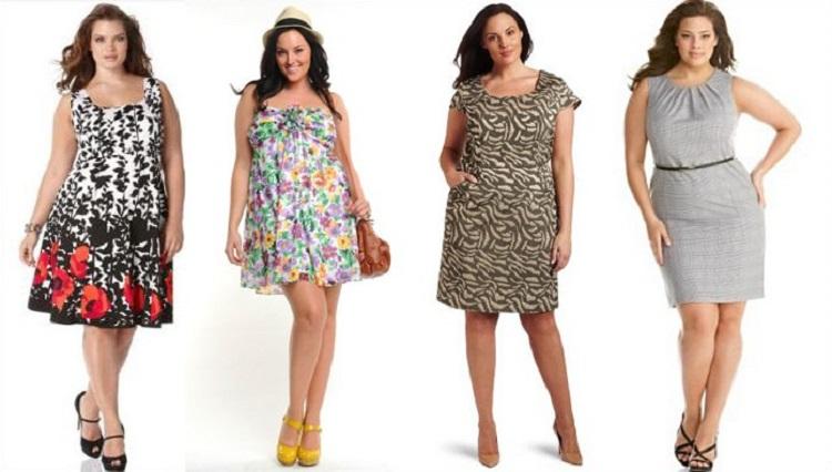 Модели платьев для полных женщин - правила повседневного наряда
