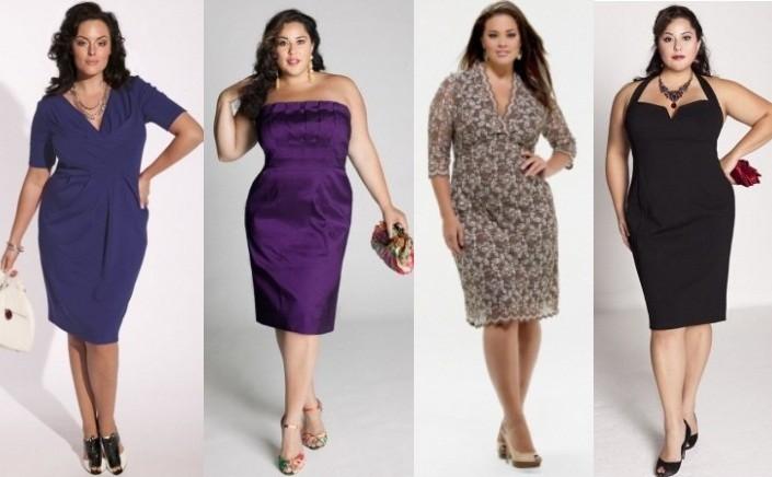 Варианты вечерних платьев для полных женщин на торжество - несколько фото