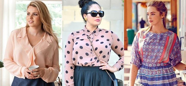 Модели блузок для полных женщин - подбираем аксессуары