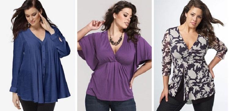 Нарядные блузки для полных женщиин - как правильно подобрать