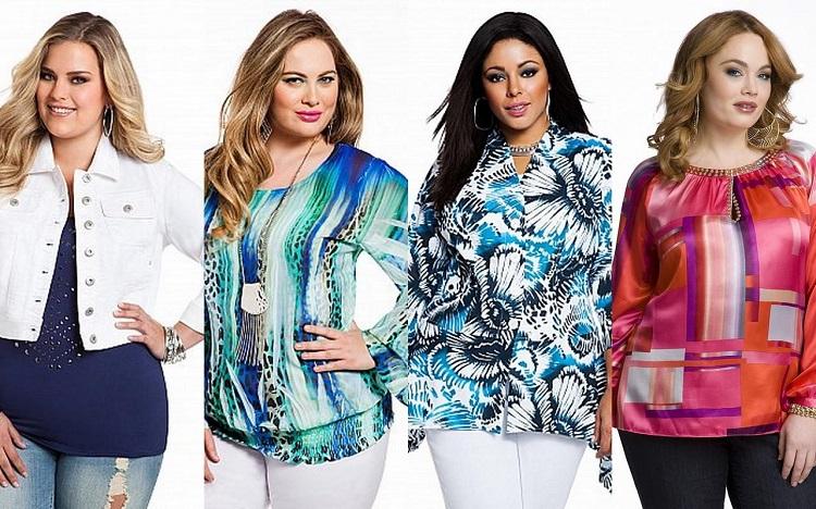 Правила выбора блузок для полных женщин - несколько советов
