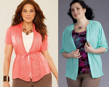 Стильные блузки для полных женщин - подбираем оптимальный вариант