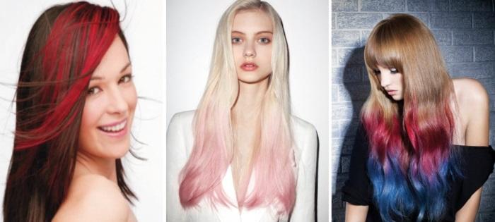 тонирование волос в домашних условиях - цветные пряди