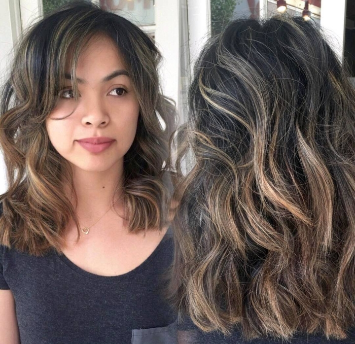 Мелирование на темные волосы: американское