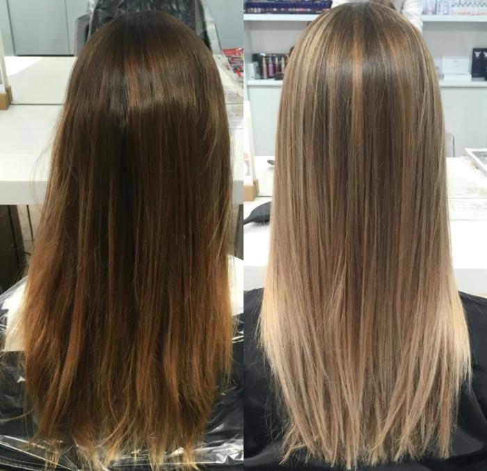 Мелирование темных волос: фото до и после