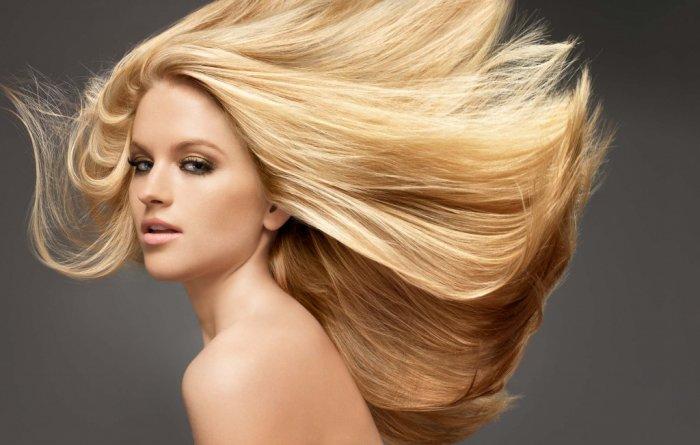 Американское мелирование длинных светлых волос