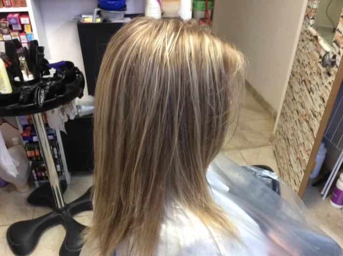 Обратное мелирование на светлые волосы
