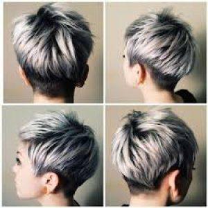 Пепельное мелирование коротких волос