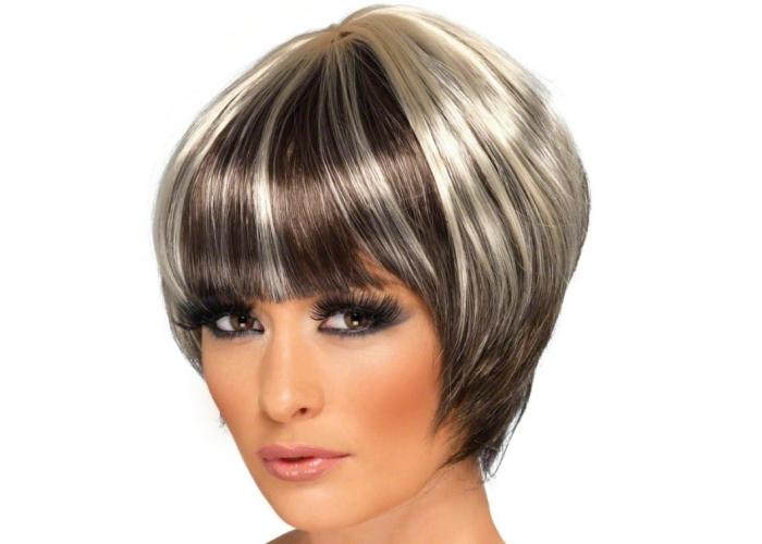 Мелирование на темные волосы: зональное