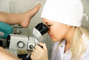 Диагностика эрозии шейки матки с помощью кольпоскопии