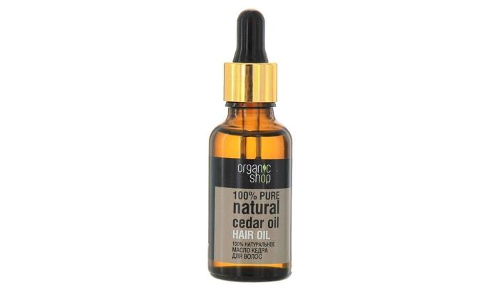 Масло для сухих и поврежденных волос: масло кедра от Organic Shop 3