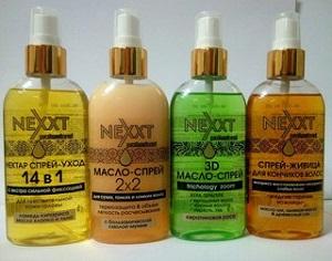 Описание и состав масла для волос Некст