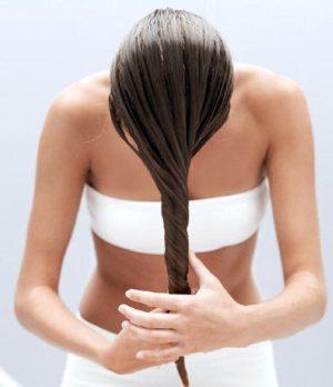 Нанесение масел на сухие и влажные волосы
