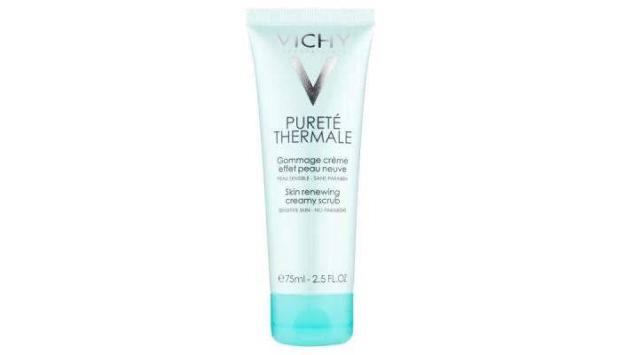 Скраб для сухой и чувствительной кожи лица: Vichy Purete Thermale