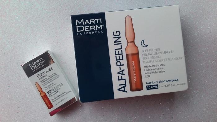 Ночной пилинг для лица: Ампулы Alfa—Peeling, Martiderm (10% АНА)