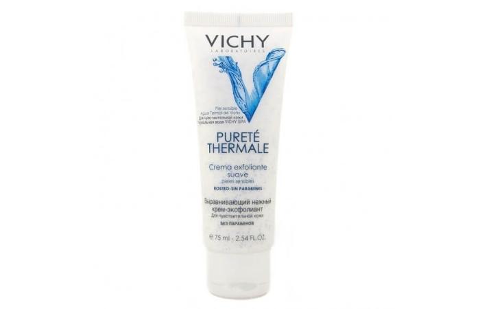 Пилинг-крем для лица: Purete Thermale Exfoliant Crème Suave Vichy